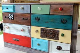 rustic look furniture. Create A Rustic Look With Wood Stain 07 By The Weekend Country Girl On  @Remodelaholic Furniture F