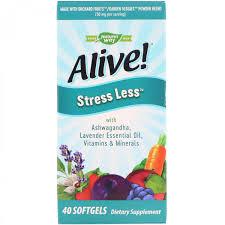 Антистрессовая <b>формула</b> Nature s Way, Alive! Stress Less, 40 ...