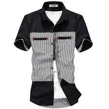<b>ZOGAA Brand New Men's</b> Fashion Shirts Color Block Summer Smart ...
