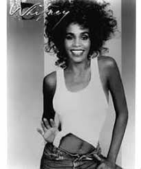 cel63 whitney houston 8x10 black and white glossy photo whitney h85 white