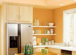 Yellow Wall Kitchen Kitchen Vibrant Orange Kitchen Walls Light Orange Kitchen