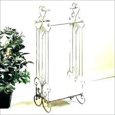 standing towel rack for bathroom wood free decoration chrome hand f