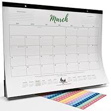 desk pad calendar on desk.  Pad Goals U0026 Gratitude Wall  Desk Pad Calendar 2018 With Vision Board Reveals  All Your To On G