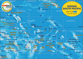 map of south pacific several states in the atlas tahiti on world