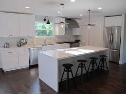 kitchen countertops white quartz. Fine Quartz Amazing Kitchen With Creamy White Cabinets Quartz  Countertops Marble Subway Tiles Backsplash Modern Island  Intended Kitchen Countertops White Quartz Z