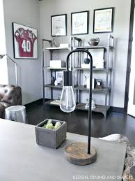 Industrial home office Decor Industrial Home Office Design With Vintage Sports Theme Venidaircom Modern Rustic Office Design Taryn Whiteaker