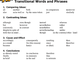 effective essay tips about transitional sentences for essays transition words wichita state university