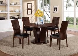 Pedestal Dining Table Set Crown Mark Daria 5 Piece Dining Set With Round Pedestal Table And