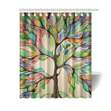 fashion custom colorful tree of life gorgeous bathroom shower curtain 60x72 in