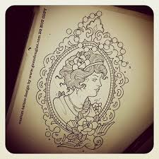 cameos rose drawings Tattoo Tattoos Cameo Frame Fancy Lady