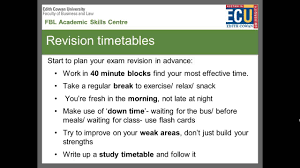 academic works ecu exam preparation and revision strategies ecu youtube
