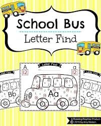 Alphabet Letter Find Back to School Theme