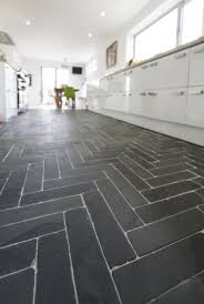 black slate floor tiles. Grey Slate Kitchen Floor Tile Black Cobbles And Briquettes With A Tumbled Eff On Tiles