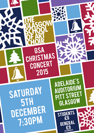 Christmas Concert Poster Poster Unveiled For The Glasgow School Of Art Christmas Concert 2015