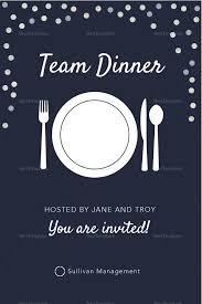 Dinner Invation Elegant Team Dinner Invitation Template
