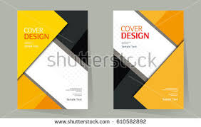 book cover design vector template in a4 size brochure