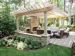 patios with fireplaces. creative pergola designs and diy options patios with fireplaces o