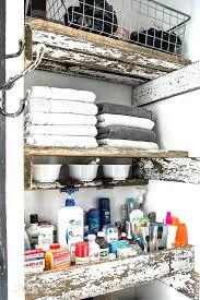 bathroom closet shelving how to build unique reclaimed wood closet shelves in a bathroom includes shallow