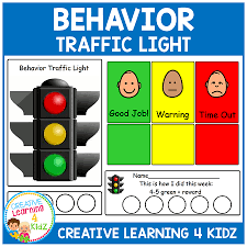 Traffic Light Chart Behaviour Behavior Traffic Light Chart Card Set Digital Download