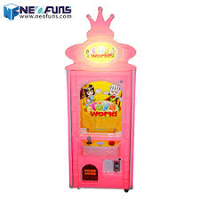 Small Candy Vending Machine Unique Popular Toys World Cotton Candy Making Machine Coin Operated Plush