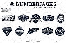 lumberjack axe logo. lumberjack badge (editable lumberjack axe logo t