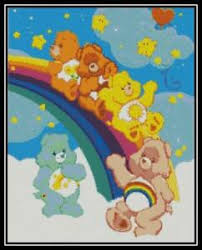 Details About Care Bears On The Rainbow Cross Stitch Chart Pattern Design Xstitch