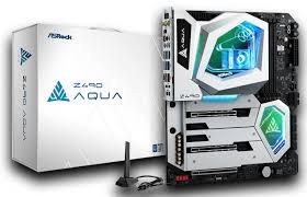 Лимитированная <b>материнская плата ASRock Z490</b> AQUA с ...