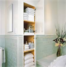 linen cabinet built bathroom traditional with built in storage ...
