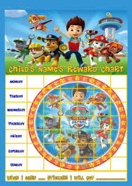 Paw Patrol Personalised Reward Chart With Free Stickers And Pen
