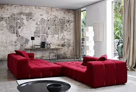 Living Room With Red Sofa Red Sofas Creating A Modern Impression Of Living Room Hupehome