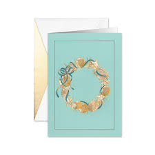 Shell Wreath Boxed Holiday Greeting Cards