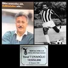Kartal Yuvası Restaurant - Yusuf Tunaoğlu 1946 yılında İstanbul'da doğar.  Beşiktaş'la gencecikken tanışır. Kulübün alt yapısında oynayan bu çok iri  cüsseli, çok yakışıklı, çok genç futbolcunun topla bir araya gelişinde bi  başkalık