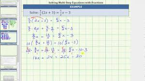 solve a linear equation with paheses and fractions 4 5 2x 3 5 2x 3