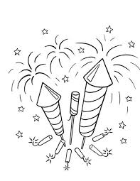 Small Picture Picture of Firecrackers and Fireworks Coloring Page Download