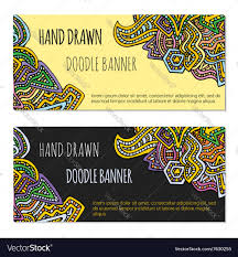 Doodling Designs Templates Colored Hand Drawn Doodle Banner Templates