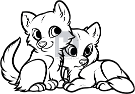 Small Picture How to Draw Wolf Puppies Wolf Cubs by Darkonator DrawingHub