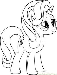 Kleurplaat My Little Pony Starlight Starlight Glimmer Sketch Draw