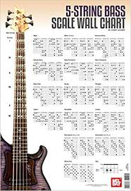 bass scales wall chart buy 5 string bass scale chart book online at low prices in