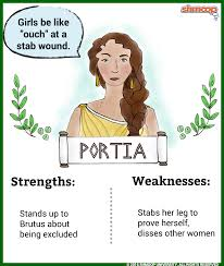 portia in julius caesar character analysis