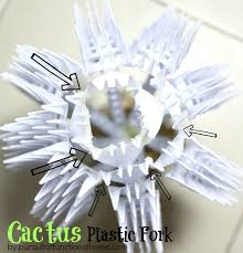 diy home decor cactus plastic fork pursuit of functional home