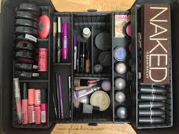 train case makeup collection storage