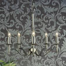 stratton chrome 5 light chandelier