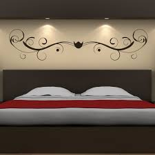 swirl headboard wall sticker girls bedroom wall decal teenager home decor