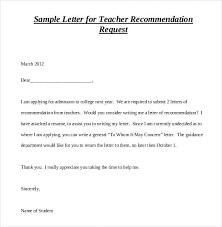 Letter Of Recommendation Teacher Teacher Letters Of Recommendation Examples Magdalene