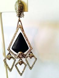 chandelier clip earrings black silver pave crystals chandelier clip earrings red chandelier clip on earrings