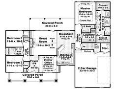 Country Style House Plans   Square Foot Home   Story     Bungalow Style House Plans   Square Foot Home   Story  Bedroom and