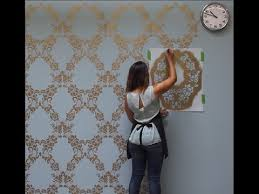 how to stencil a feature wall in only
