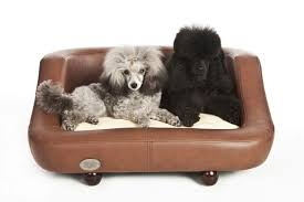 fancy dog beds furniture. richmond luxury leather brown dog bed by chester and wells fancy beds furniture