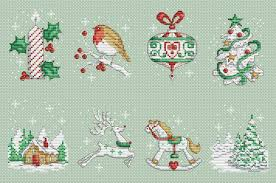 Cross Stitch Designs Free Download Pdf Christmas Motifs Set Cross Stitch Pattern Pdf Xsd Santa