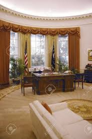 reagan oval office. Replica Of The White House Oval Office At Ronald W. Reagan Presidential Library Stock